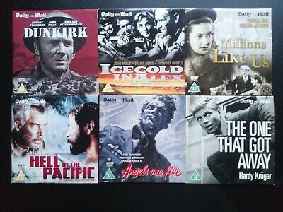 Daily Mail Dvds 6 Classic War Films • 2.90£