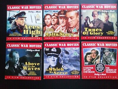 Daily Mail Dvds 7 Classic War Films • 2.90£