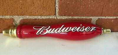 $ CDN18.28 • Buy Budweiser Red Wood Round Beer Tap Handle 11 1/2 Inches Tall