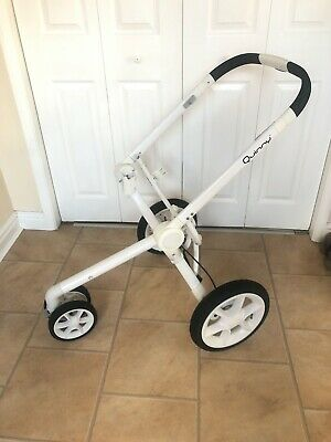 Quinny Moodd Frame Pram Pushchair Chassis White With Wheels 3 Wheeler  • 64£