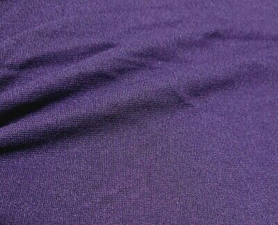 Purple Colour Stretch Ponte Jersey Fabric - Sold By The Metre • 4.93£