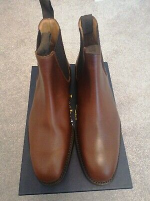 Loake 1880 Chatsworth Brown Calf Leather Chelsea Boots. Size 9. Made In England. • 120£