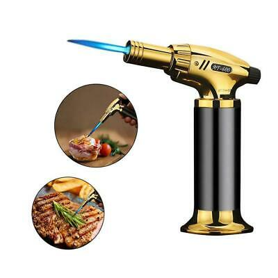 Jet Torch Lighter Welding Adjustable Flame Refillable Gas For BBQ Kitchen • 12.99£