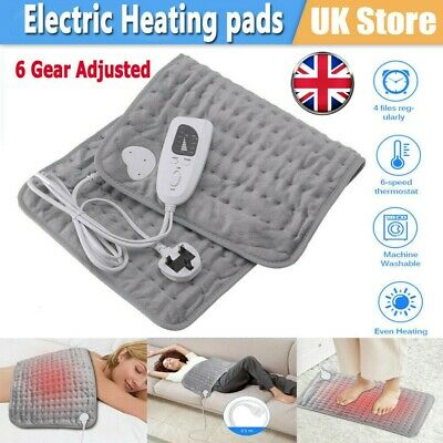 Therapeutic Electric Heat Pad Soothing Muscle Tension Back Neck Pain Relief UK • 25.12£