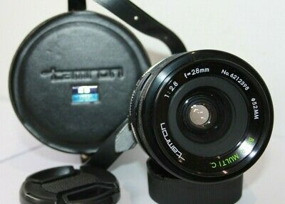 Tamron 28mm F2.8 BBAR Wide Angle Prime Manual Lens Canon FD Adapter AE-1 A-1 • 35.99£