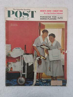 $ CDN31.27 • Buy Saturday Evening Post June 29, 1957 NORMAN ROCKWELL Cover  JUST MARRIED