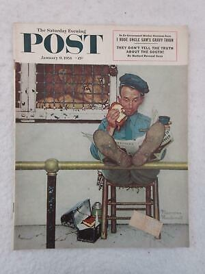 $ CDN31.73 • Buy Saturday Evening Post January 9, 1954 NORMAN ROCKWELL Cover