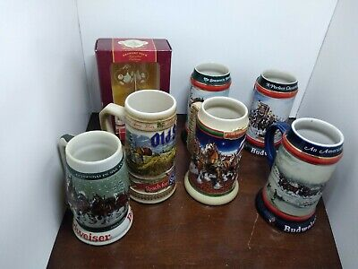 $ CDN20.11 • Buy 1982 Budweiser 50th Anniversary Clydesdale's Holiday Beer Stein Mug 1933-1983