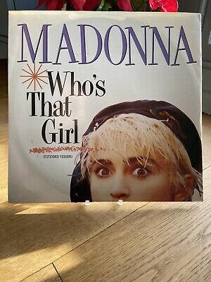 MADONNA - Who's That Girl 12 INCH VINYL -FIRST PRESS A1/B1 - SIRE - VG+/VG+ • 0.99£