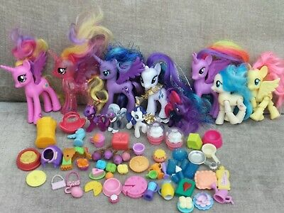 My Little Pony & Accessories Bundle/MLP Horse Food Toys Playset/girls  Toys Jobl • 4.20£