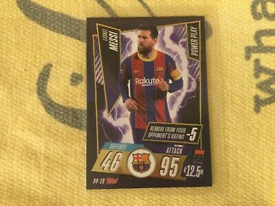 Lionel Messi Match Attax 2020/21 Power Play Card Pp-19 Exclusive  • 4£