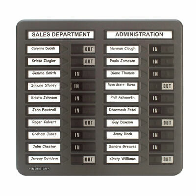 NEW! Indesign 20 Names In/Out Board Grey WPIT20I • 143.65£