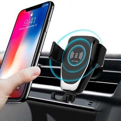 AU19.46 • Buy 15W Qi Fast Wireless Car Charger Charging Holder Cradle For IPhone 12 Pro 11 XS