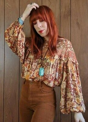 AU245 • Buy SPELL & THE GYPSY COLLECTIVE *AMETHYST* Blouse In Amber, Size XL
