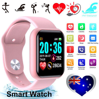 AU19.89 • Buy Smart Watch Waterproof Smartwatch For Android IOS Kids Women Heart Rate Monitor