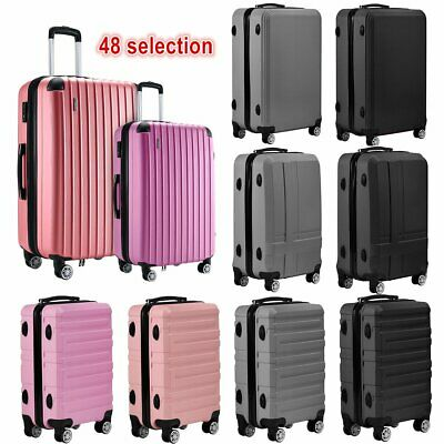 20 24 28  Small Large Suitcase Hard Shell Travel Trolley Hand Luggage Organiser • 29.99£