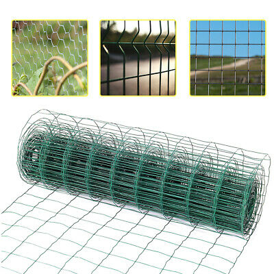 Green/Galvanised Barrier Wire Post Hole Stakes Chicken Mesh Garden Economy Fence • 51.54£