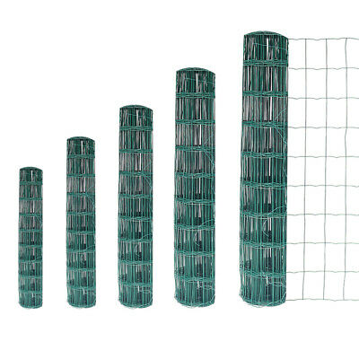 Green Galvanised Mesh Garden Wire Chicken Aviary Barrier Fence PVC Coated 10-20m • 19.14£