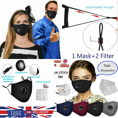 Sport Party Face Mask Virus Dust Protection Washable Protective Covering Mouth • 0.99£