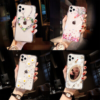 AU15.99 • Buy For IPhone 12 Pro Max 11 XS XR 6 7 8 Bling Glitter Diamond Flowers Case Cover