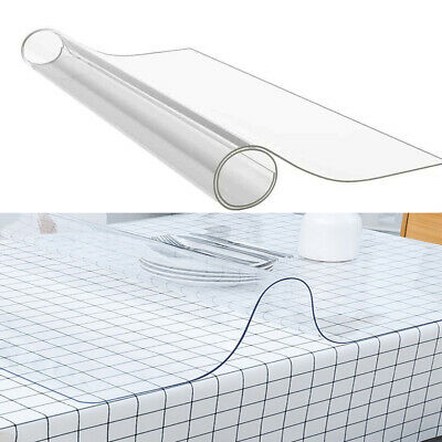 £12.95 • Buy Clear PVC Table Desk Cover 2mm Thick Waterproof Protector Wipe Clean Tablecloth