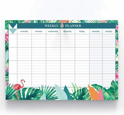 £10.95 • Buy A4 Weekly Planner 60 Tear Off Sheets Notes Meal Organiser Things To Do Memo Pad