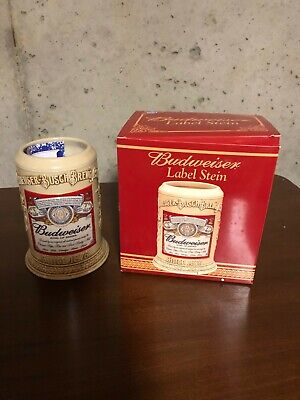 $ CDN39.27 • Buy 2002 BUDWEISER ANHEUSER BUSCH LABEL STEIN With BOX