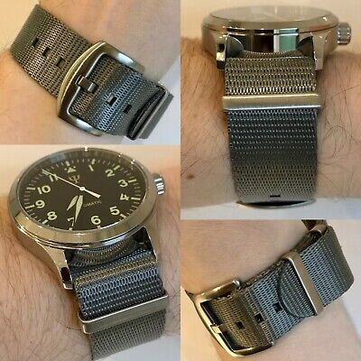Nato Watch Strap 20mm 22mm Traditional Grey Colour Wristwatch Band Stainless Ste • 12.99£