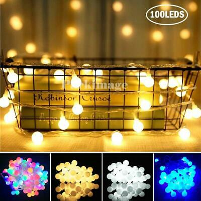 LED Globe Ball String Fairy Lights Mains Plug In Christmas Outdoor Indoor Xmas • 14.32£