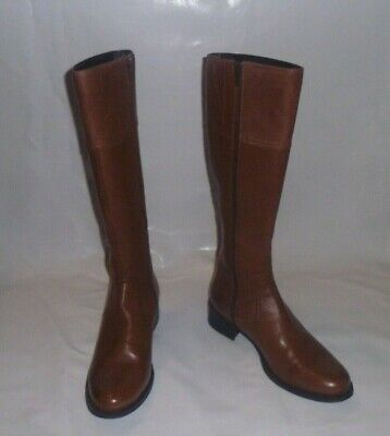 Pavers Tan Leather Boots Size 5 • 8.50£
