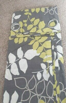 Sandown And Bourne Pair Of Unlined Ring Top Curtains Grey Green  168 X 183cm NEW • 16.99£