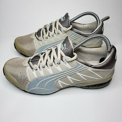 AU43.38 • Buy PUMA Women's Cell Sneakers Size 8 Gray/Blue Running Training Shoes 181863 29