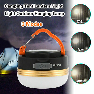 £6.99 • Buy 3 Mode Camping Tent Light USB Rechargeable Lantern Mini Portable Lamp Torch