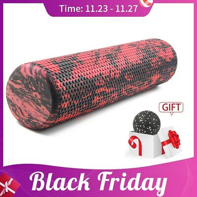 AU24.53 • Buy 60 / 45cm Pilates Yoga Block Foam Roller Trigger Point Muscle Gym Roller For Gym