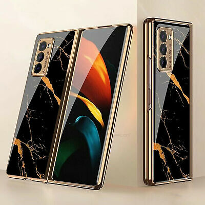 AU18.72 • Buy For Samsung Galaxy Z Fold 2 Case Ultra Thin Flip Tempered Glass Back Cover