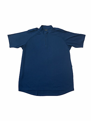 £8.95 • Buy Male Blue Breathable Short Sleeve Wicking Shirt With Epaulettes Security