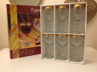 Rayware Classic Gold Collection Red Wine Goblets / Glasses 27cl • 12.99£