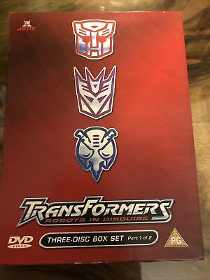£16.95 • Buy Transformers - Robots In Disguise (DVD, 2004, 3-Disc Set, Animated, Box Set 1)