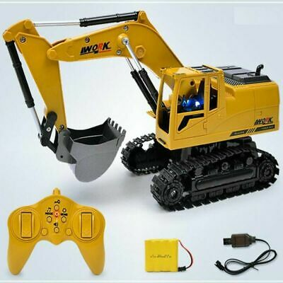 Remote Control Digger Truck 11Ch Toy RC Excavator Radio Controlled Construction • 20.59£
