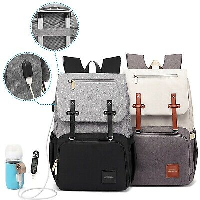 Superior Changing Bag Backpack Baby Nappy Bag New Multi Use USB Maternity Bag • 14.99£