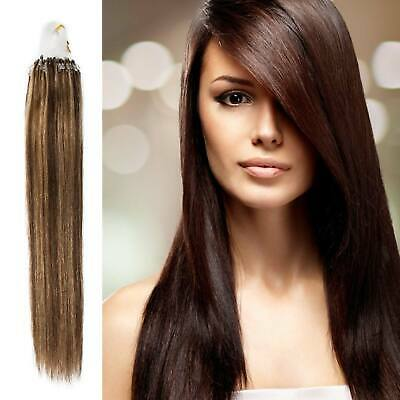 100G Premium Russian Remy Micro Loop Luxurious Smooth Weft Hair Extensions • 20.66£