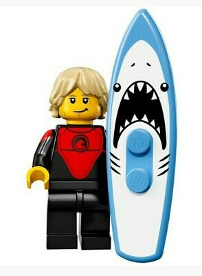 LEGO Minifigure - Professional Surfer - CMF Series 17 - With Surf Board FREE P&P • 5.95£