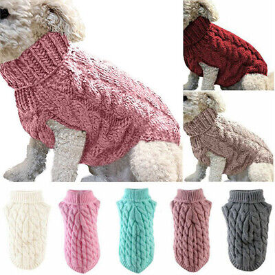 £3.70 • Buy Winter Pet Clothes S-XL Knitted Sweater Cat Coat For Small Dogs Puppy Dog Jumper