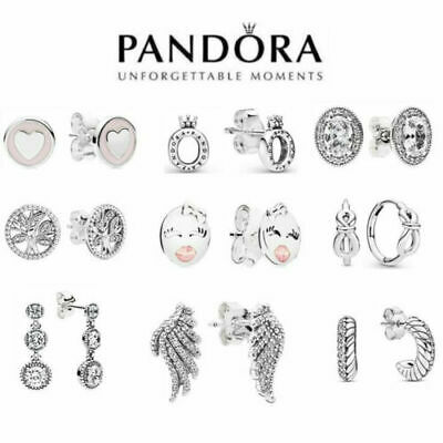 AU22.99 • Buy Genuine Pandora Earrings S925 Ale Gift Polished Crown Feathers Sweet Wink Au