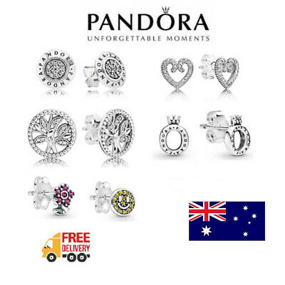 AU30.99 • Buy Genuine Pandora Earrings Sterling Silver S925 ALE Free P&P + Free Pouch Bag NEW