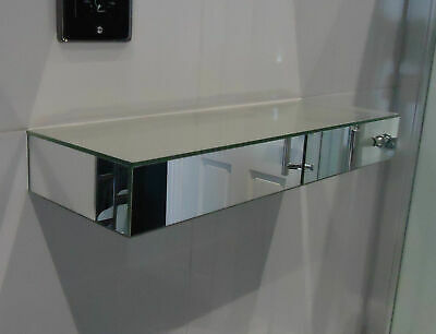 £25 • Buy Home Gorgeous Mirrored Wall Mounted Shelf Glass Display Floating Shelves DIY