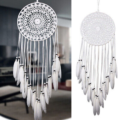 Wind Chimes Handmade Indian Dream Catcher Net With Feathers Wall Hanging  • 10.95£