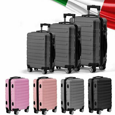 Hard Shell Cabin Suitcase Trolley Case 360° Spinner Wheels Luggage Lightweight • 38.99£