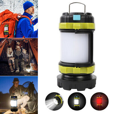 USB Tent Lights T6 LED Outdoor Waterproof Portable Hanging Lantern Camping Lamp • 9.99£