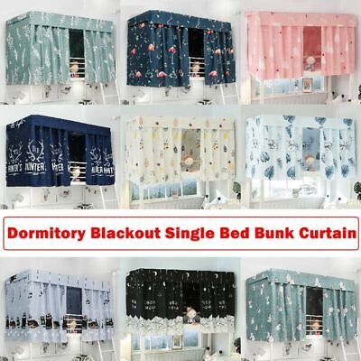 Cabin Bunk Bed Tent Curtain Cloth Dormitory Mid-Sleeper Bed Canopy Spread Screen • 7.89£